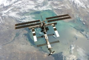 space station hit by small meteorite