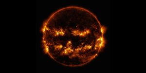 nasa releases image of jack o lantern looking sun