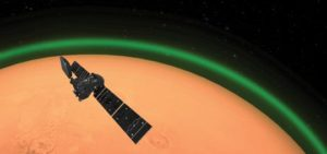 green glow detected on mars