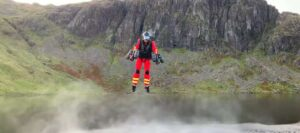 first responders test paramedic jet suit that could help in mountain rescues