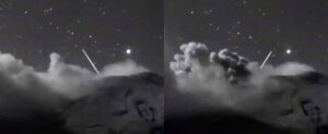 two ufo's Caught on live webcam entering Mexican volcano