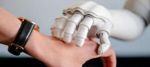 touch from talking robot found to help emotional state