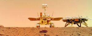 China mars rover snaps selfie