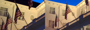 mysterious figure in window photographed at famous Stanley hotel