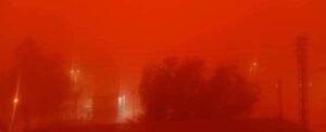 sky turns blood red in Algeria