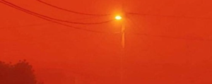 sandstorm turns sky blood red in Algeria